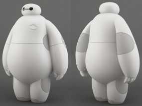 超能陆战队baymax小白 3D模型