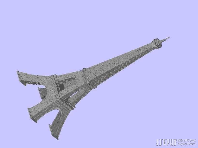艾菲尔铁塔 3D模型  图1