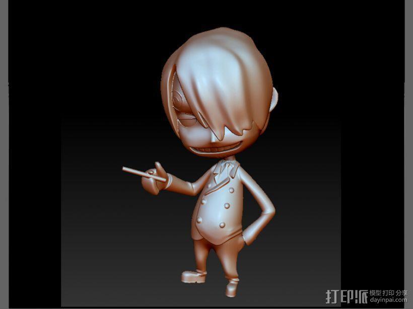 海贼王-香吉士 3D模型  图1
