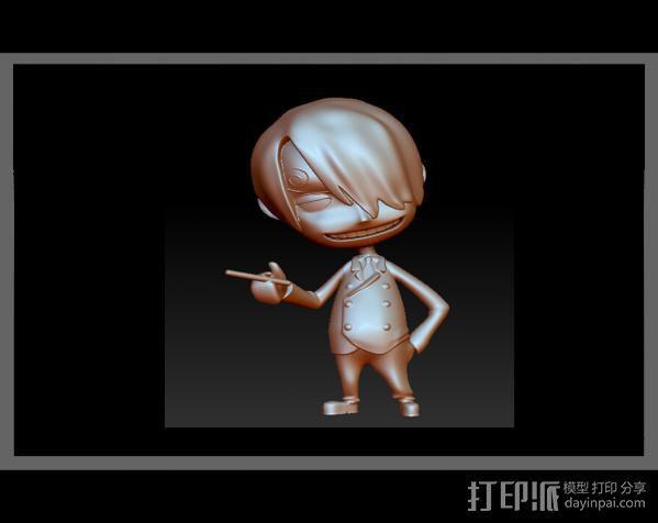 海贼王-香吉士 3D模型  图2