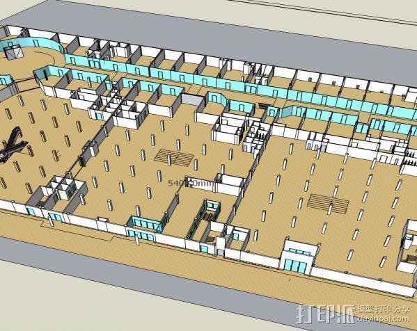 购物中心模型  3D模型  图1