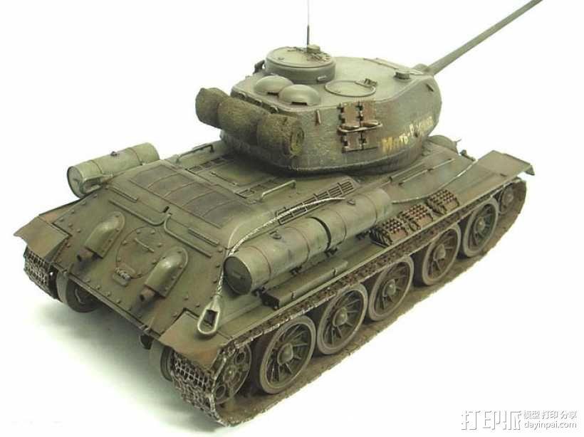 T-34坦克模型-二战坦克-曾经的陆战之王 3D模型  图1