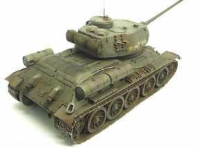T-34坦克模型-二战坦克-曾经的陆战之王 3D模型