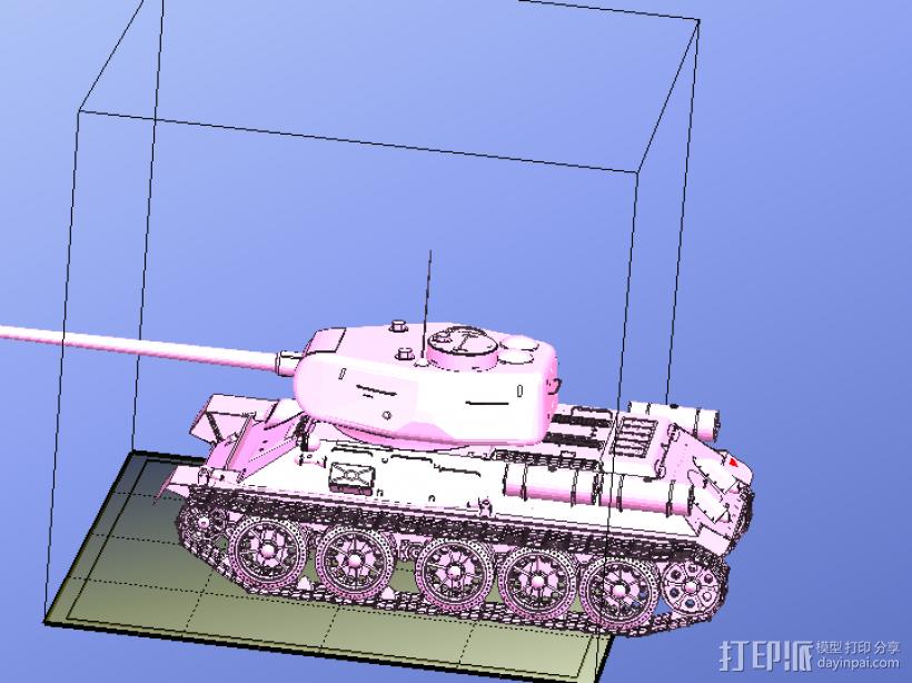 T-34坦克模型-二战坦克-曾经的陆战之王 3D模型  图2