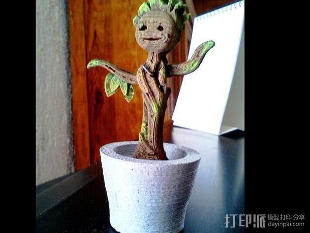 银河护卫队 Groot 3D模型  图1