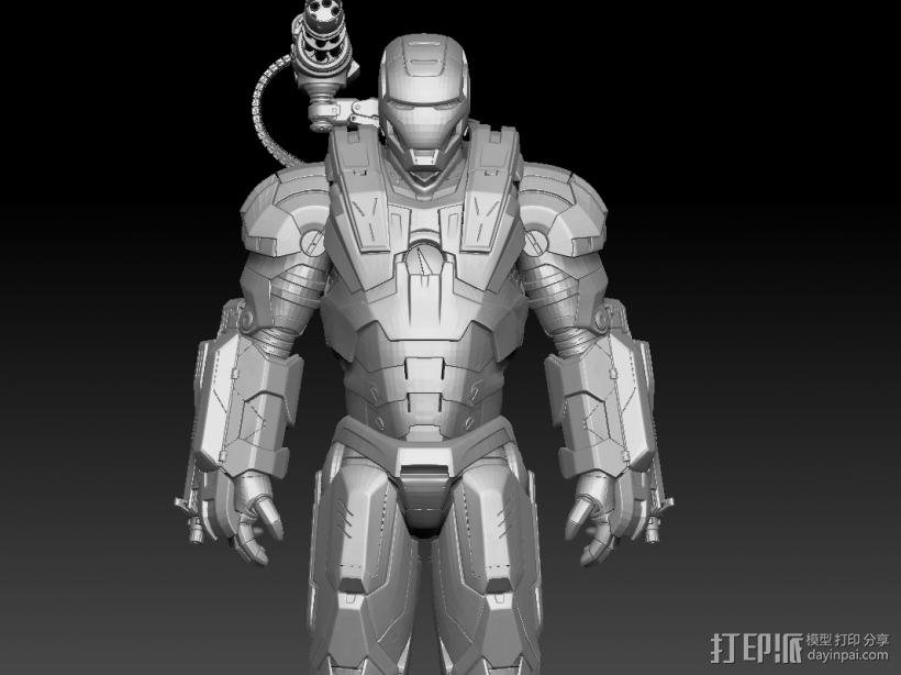 钢铁侠战争机器 3D模型  图1