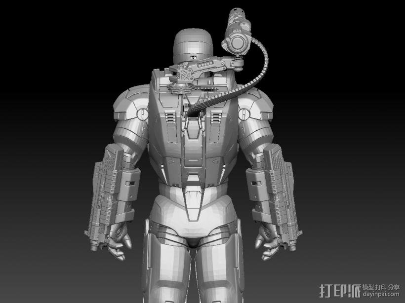 钢铁侠战争机器 3D模型  图2