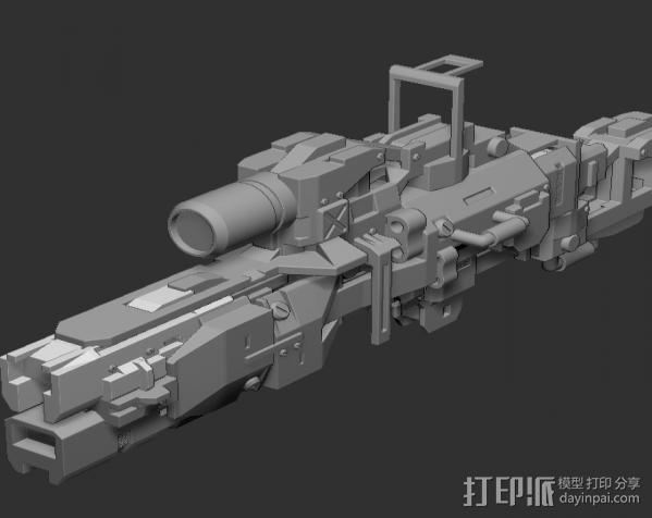 枪 3D模型  图2