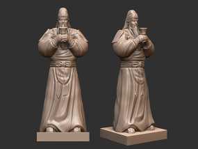 三国演义桃园结义——关羽 3D模型