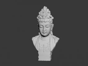 观音胸像 3D模型