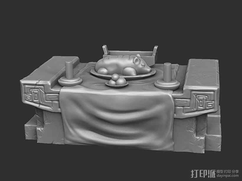 三国演义桃园结义——结拜祭台 3D模型  图1