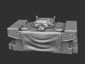 三国演义桃园结义——结拜祭台 3D模型