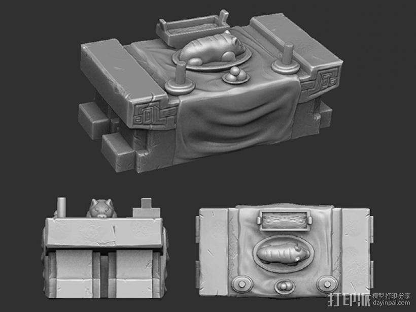 三国演义桃园结义——结拜祭台 3D模型  图2