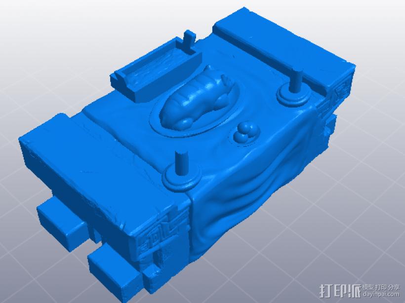 三国演义桃园结义——结拜祭台 3D模型  图4