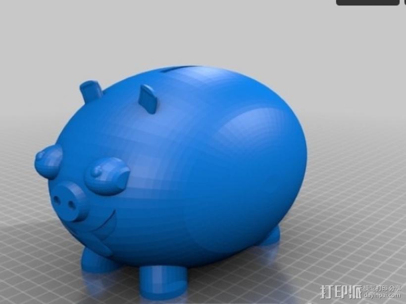 小猪存钱罐 3D模型  图1