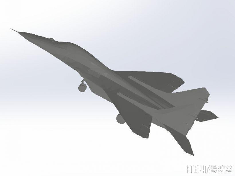 米高扬米格MIG-29 3D模型  图1