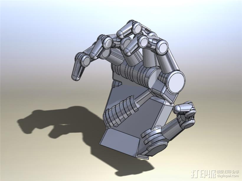 仿人机械手 3D模型  图1