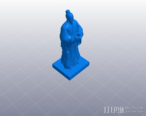 三国演义桃园结义——刘备 3D模型  图4