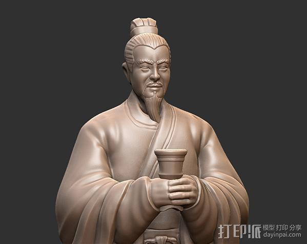 三国演义桃园结义——刘备 3D模型  图3