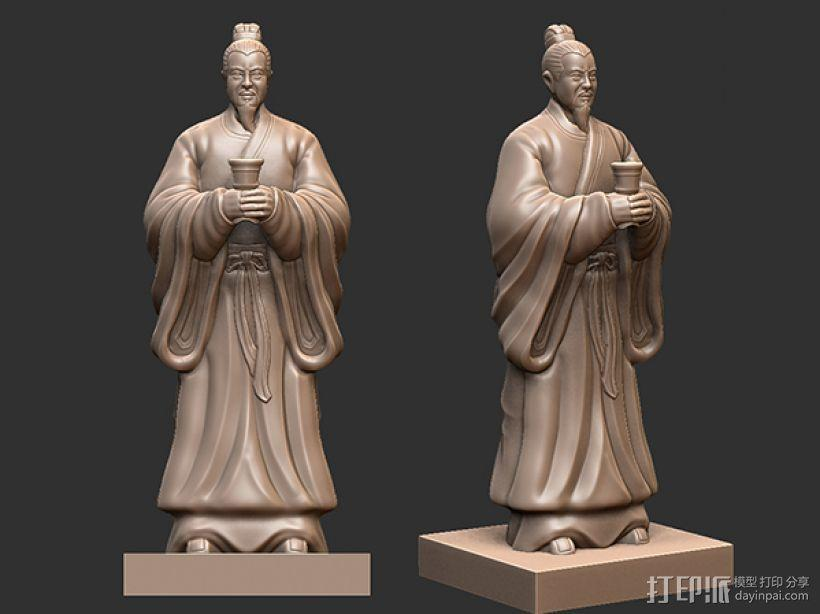 三国演义桃园结义——刘备 3D模型  图1