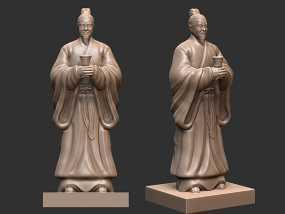 三国演义桃园结义——刘备 3D模型