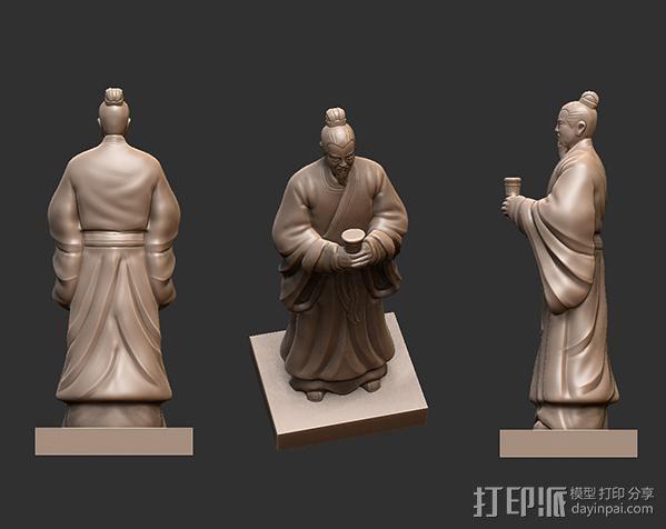 三国演义桃园结义——刘备 3D模型  图2