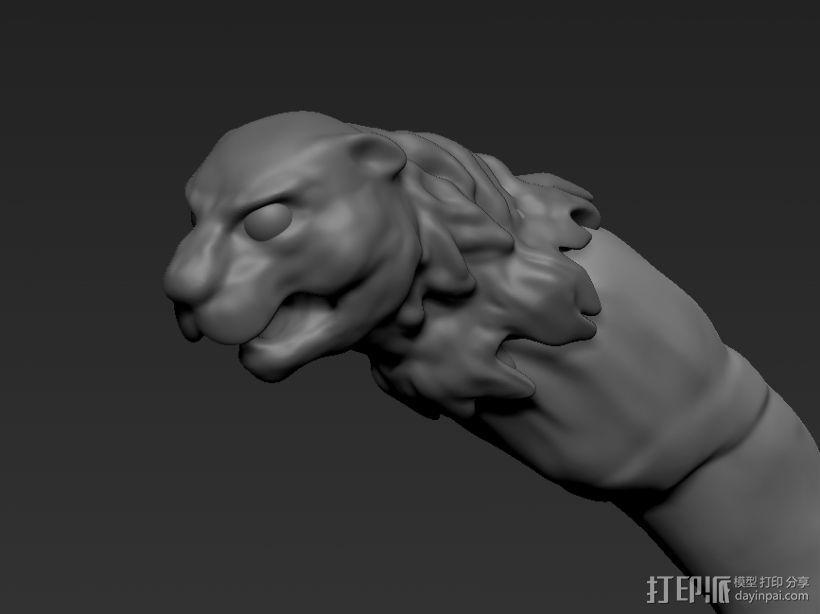 豹头狼牙 3D模型  图1