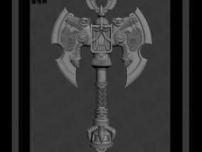 战锤中的一斧头 3D模型