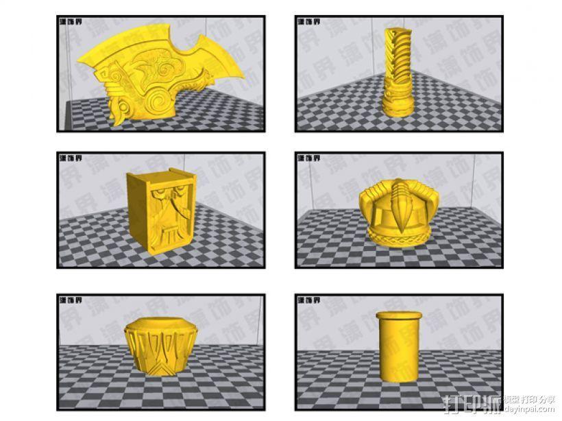 战锤中的一斧头 3D模型  图3