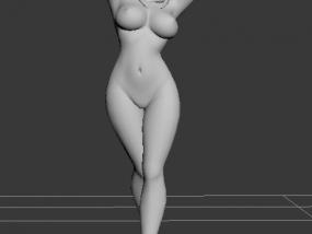 裸体卡通MM 3D模型