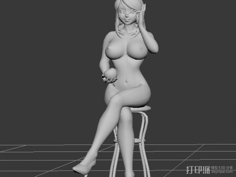 裸体卡通MM 3D模型  图2