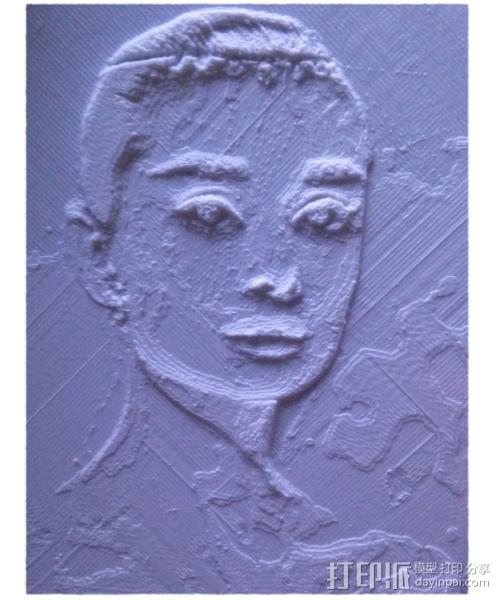 3D打印浮雕透光照片 3D模型  图4