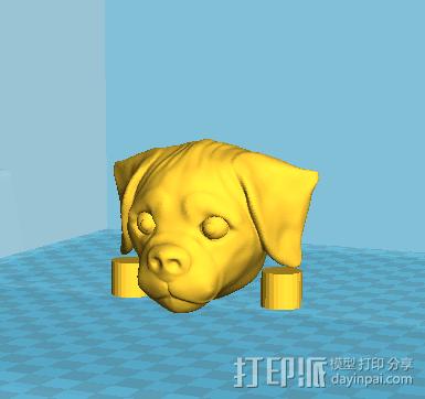 拼接狗狗(可活动)14件拆件 3D模型  图3