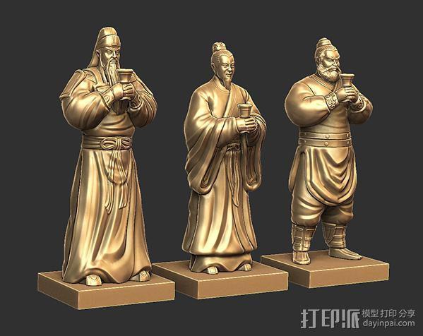 三国演义桃园结义——刘备 3D模型  图6