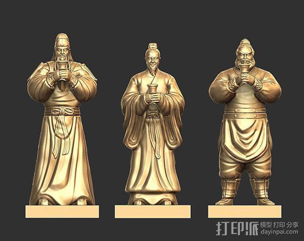 三国演义桃园结义——刘备 3D模型  图7