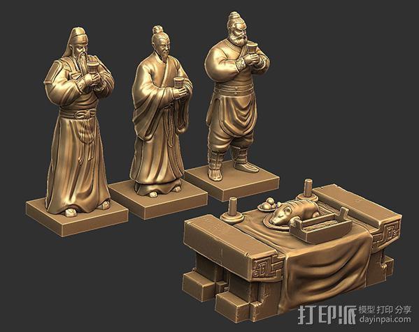 三国演义桃园结义——刘备 3D模型  图5