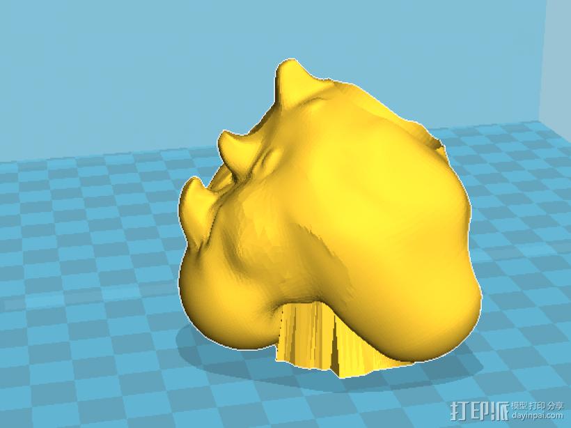 飞龙(可活动带支撑)拆分14件 3D模型  图6