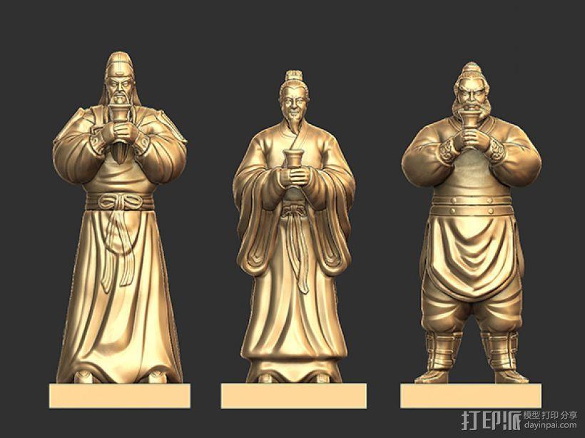 三国演义桃园结义——结拜祭台 3D模型  图7