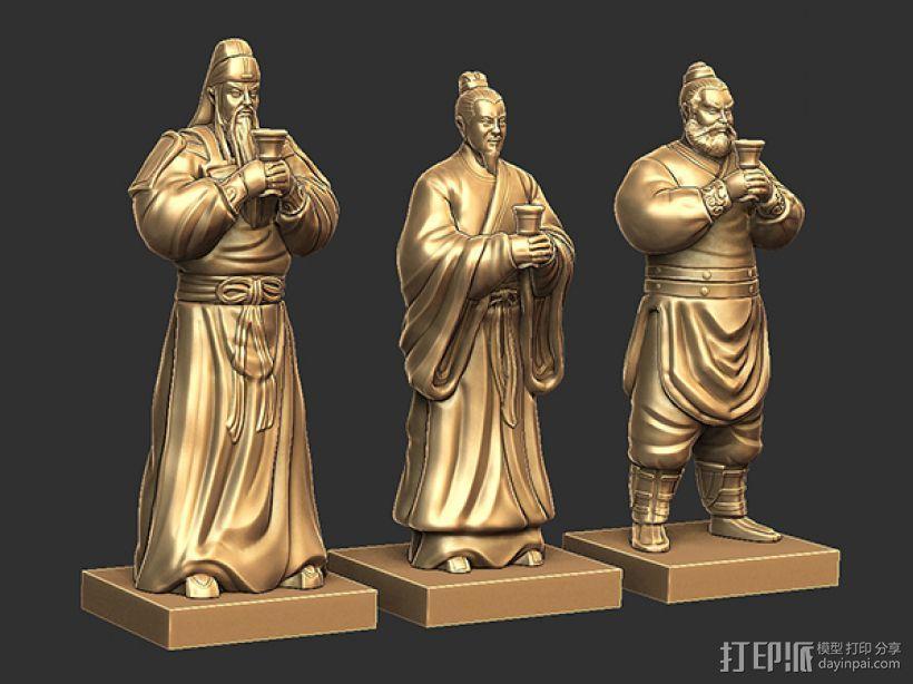 三国演义桃园结义——结拜祭台 3D模型  图6
