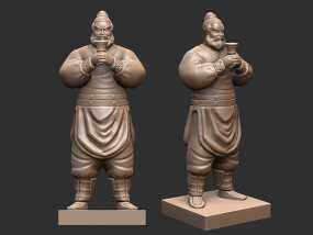 三国演义桃园结义——张飞 3D模型