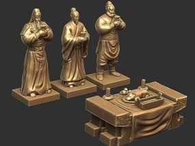 三国演义桃园结义——模型合集 3D模型