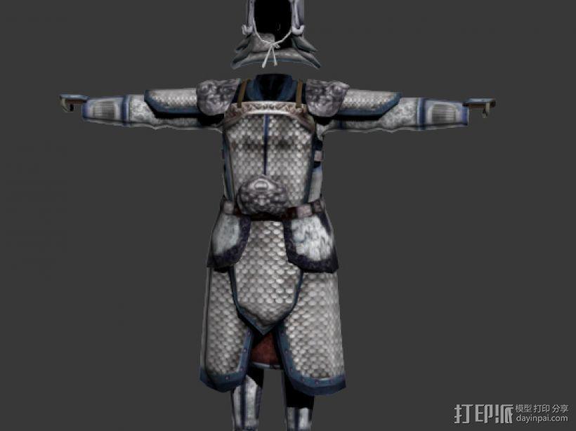 山文盔甲 3D模型  图1