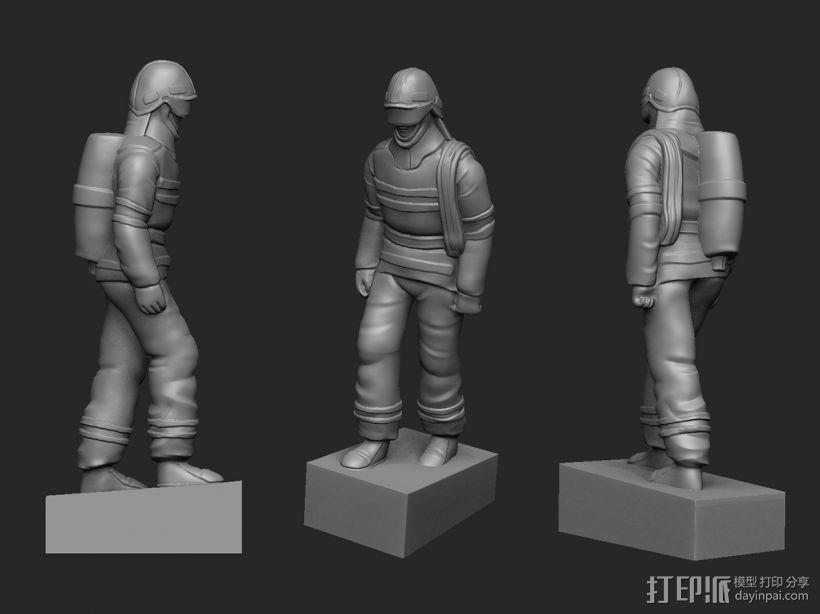 最帅的逆行——英雄消防员 3D模型  图2