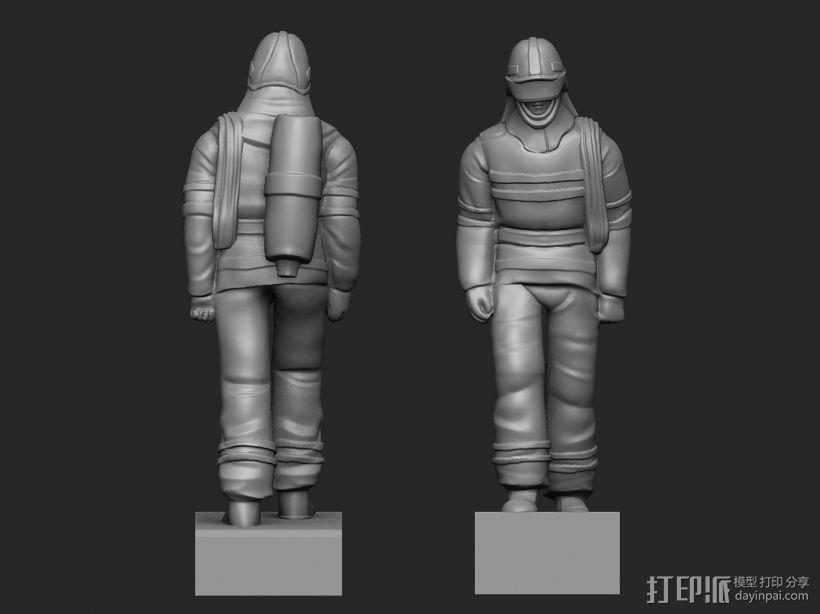 最帅的逆行——英雄消防员 3D模型  图1