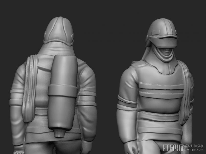 最帅的逆行——英雄消防员 3D模型  图3