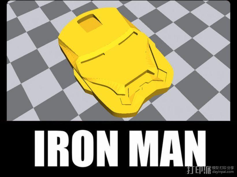 复仇者联盟 钢铁侠头像 挂件 冰箱贴 3D模型  图2