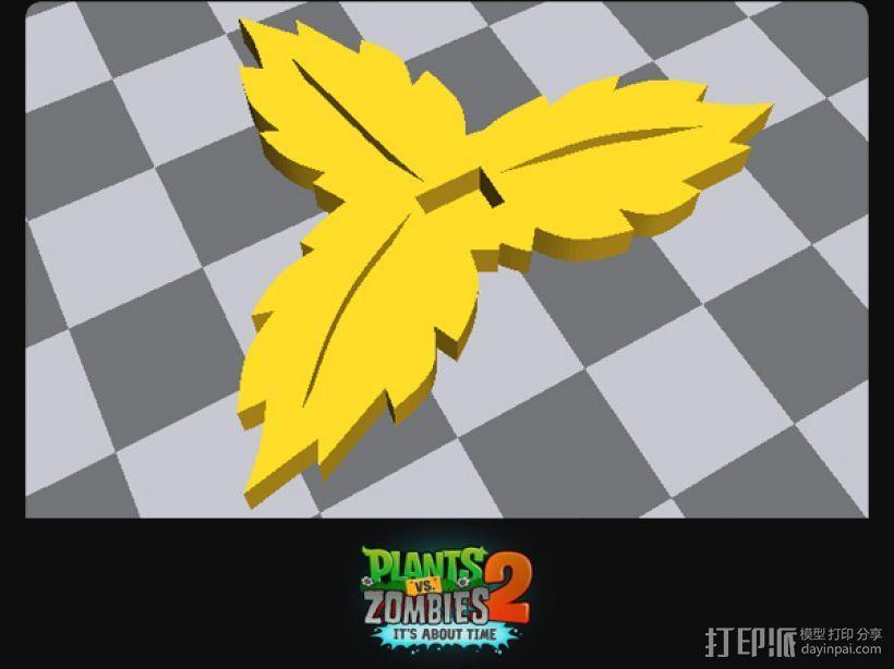 植物大战僵尸2 火龙桌面扁平摆件 3D模型  图3