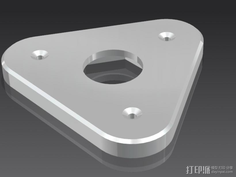 自制3d打印耗材架 3D模型  图1
