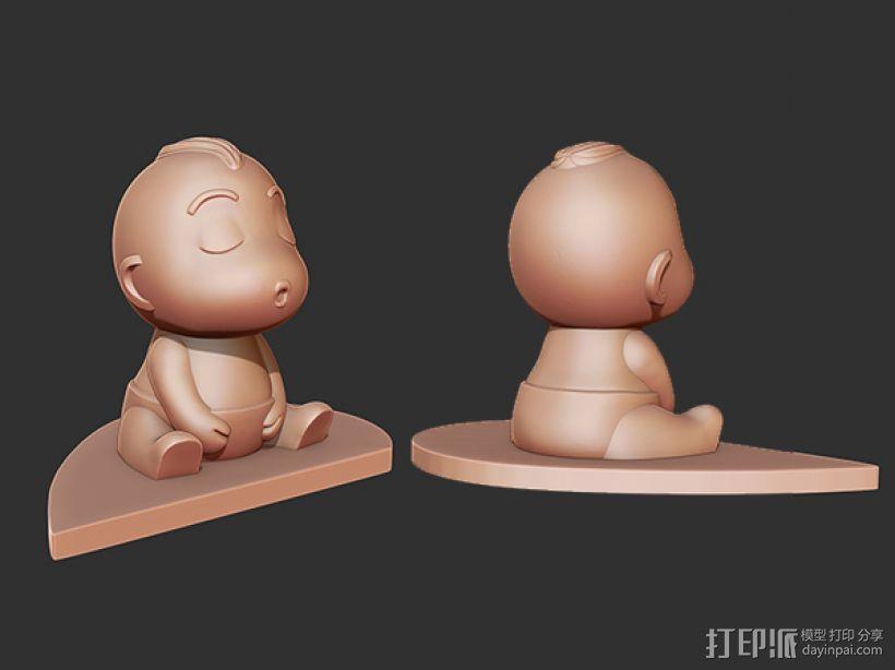 亲嘴娃娃 3D模型  图4