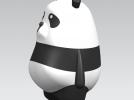 可爱小熊猫 3D模型 图3